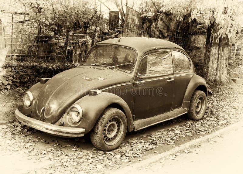 Rétro véhicule de coléoptère photographie stock libre de droits