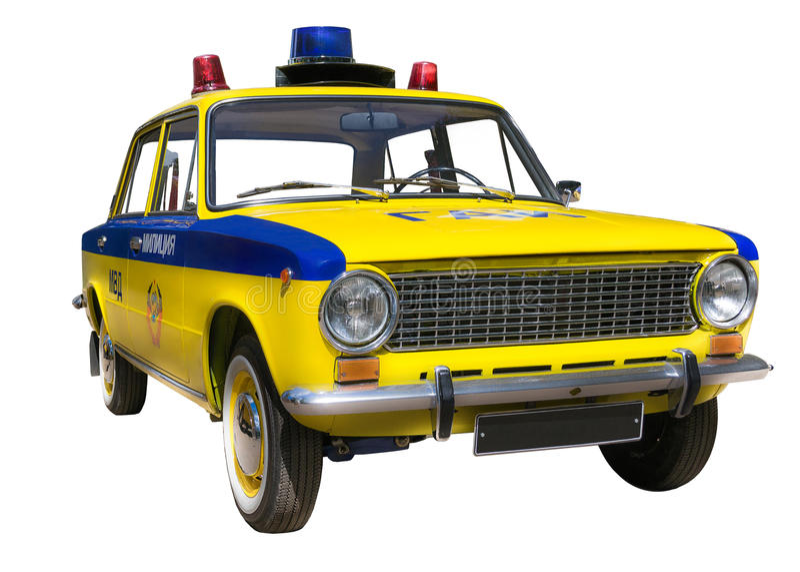 Rétro véhicule de police photo libre de droits
