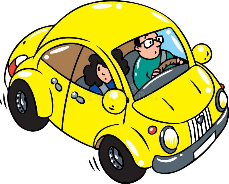 Download Rétro véhicule jaune illustration de vecteur. Illustration du homme - 45356559