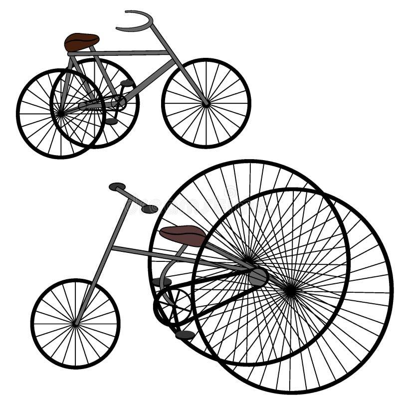 Rétro vélo de vintage photo stock