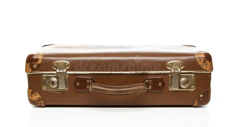 Rétro valise grunge images libres de droits