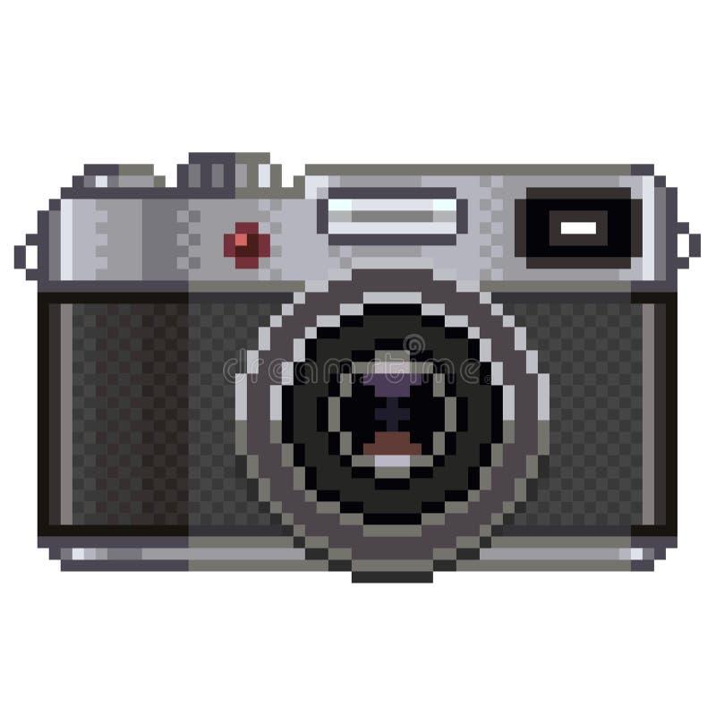 Rétro vecteur d'appareil-photo de photo de pixel illustration stock