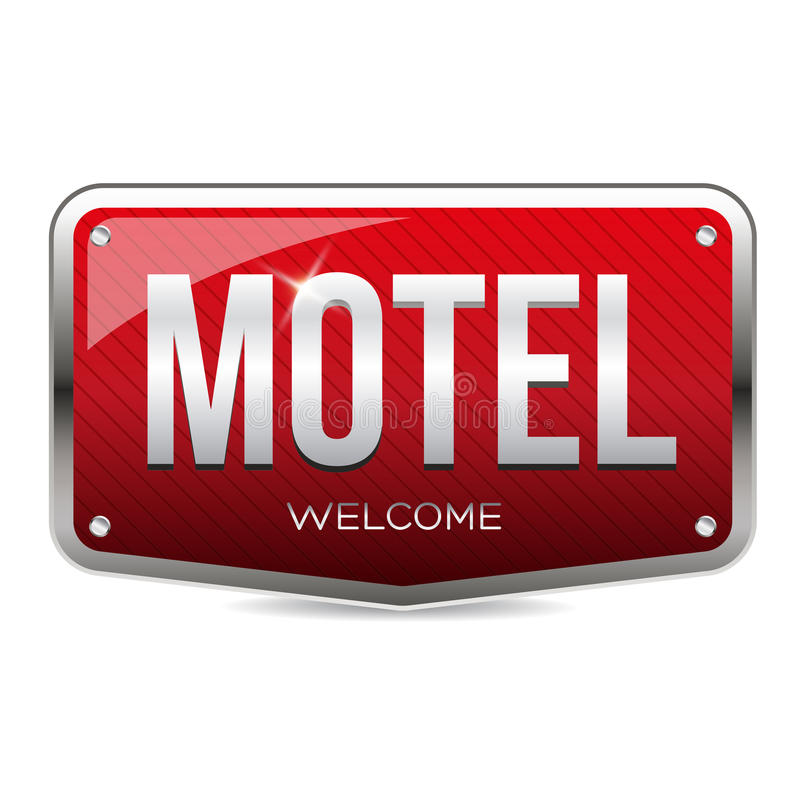 Rétro vecteur de signe de motel illustration stock