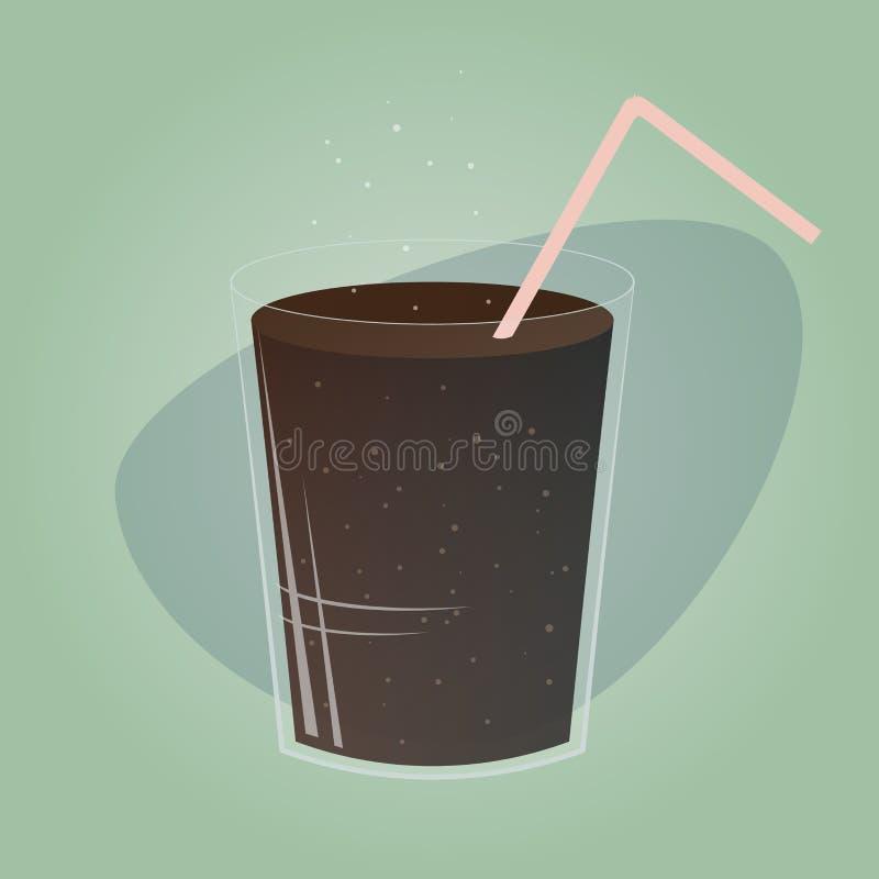 Rétro verre de kola illustration libre de droits