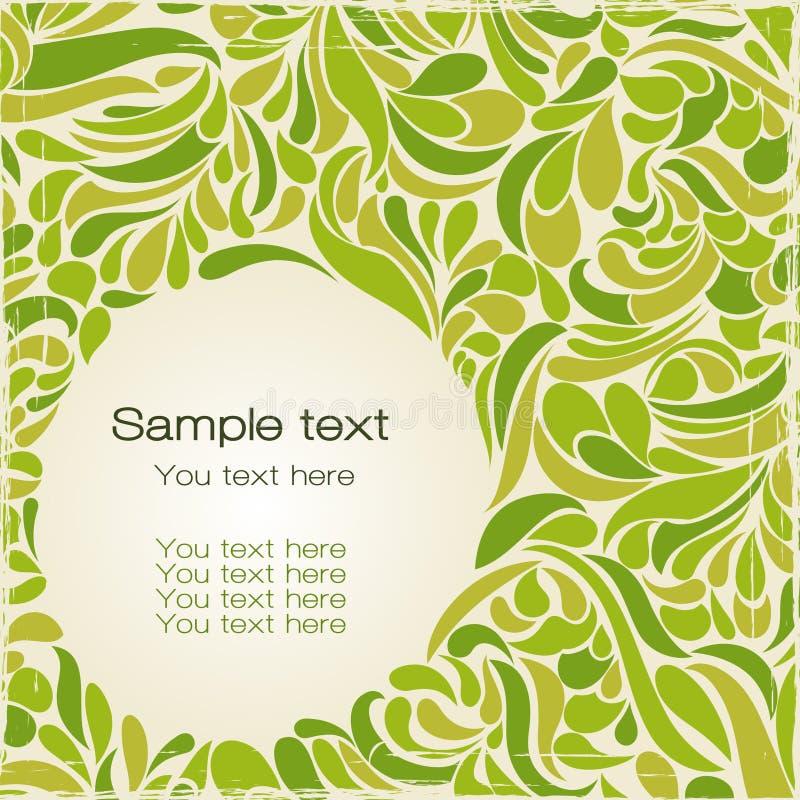 Rétro vert de carte postale illustration de vecteur