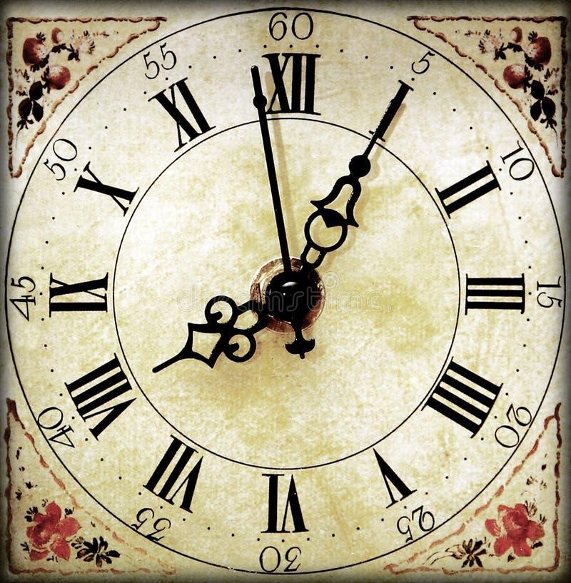 Rétro visage d'horloge images libres de droits