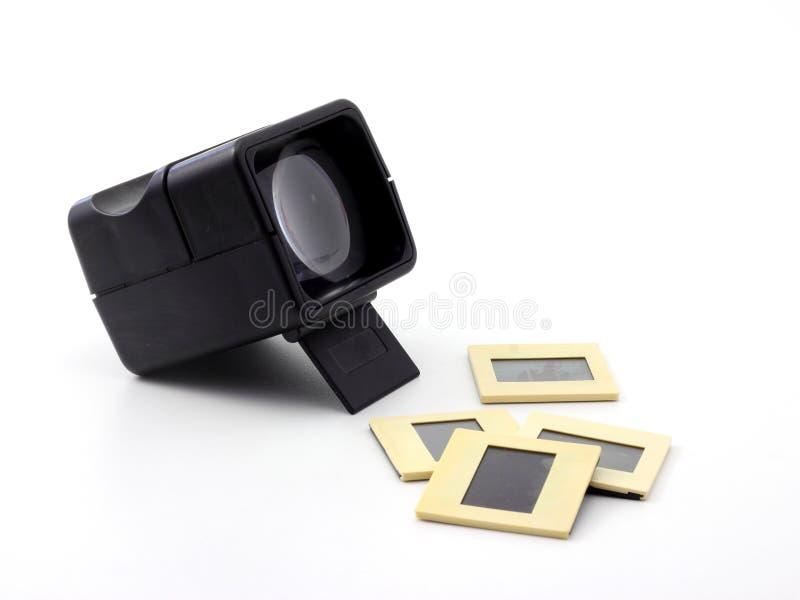 Rétro visualisateur de glissière en plastique photo libre de droits