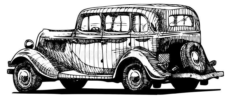 Rétro voiture illustration de vecteur