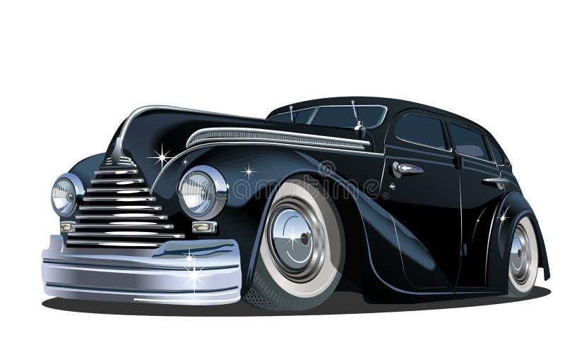 Rétro voiture de bande dessinée illustration de vecteur