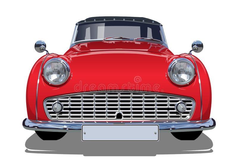 Rétro voiture de vecteur illustration stock