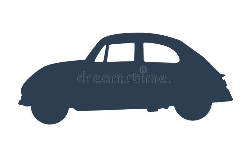 Rétro voiture de vintage, signe classique de garage, collection d'oldtimers Vecteur illustration de vecteur