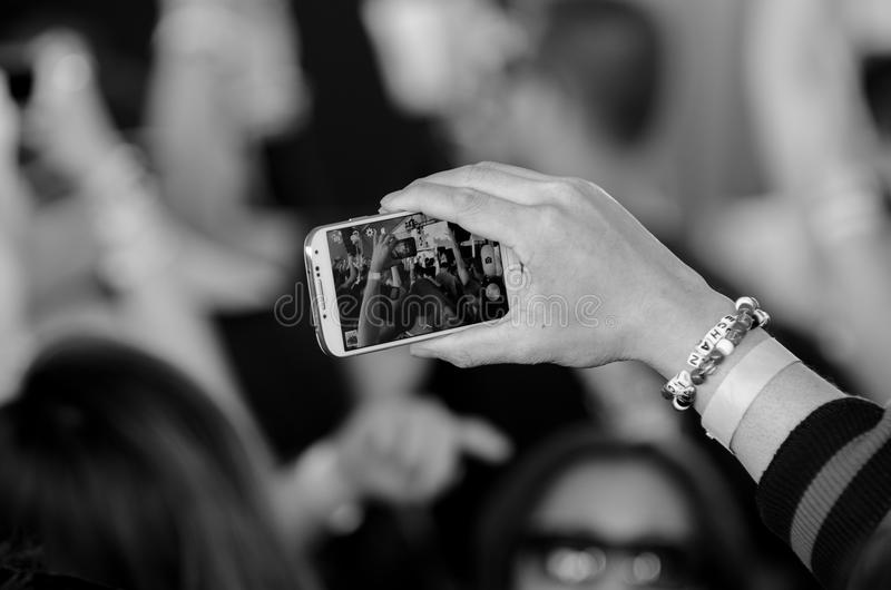 Rétroaction de Smartphone photographie stock libre de droits
