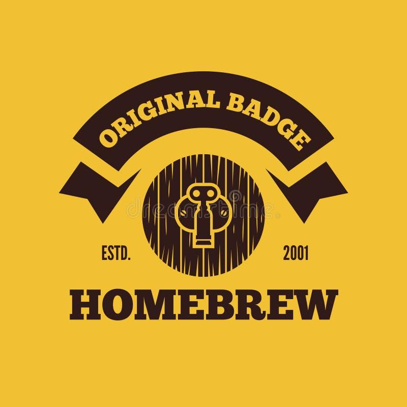 Rétros éléments de logo, d'insigne, d'emblème ou de logotype de vintage pour la bière, la boutique, le brew à la maison, la taver illustration de vecteur