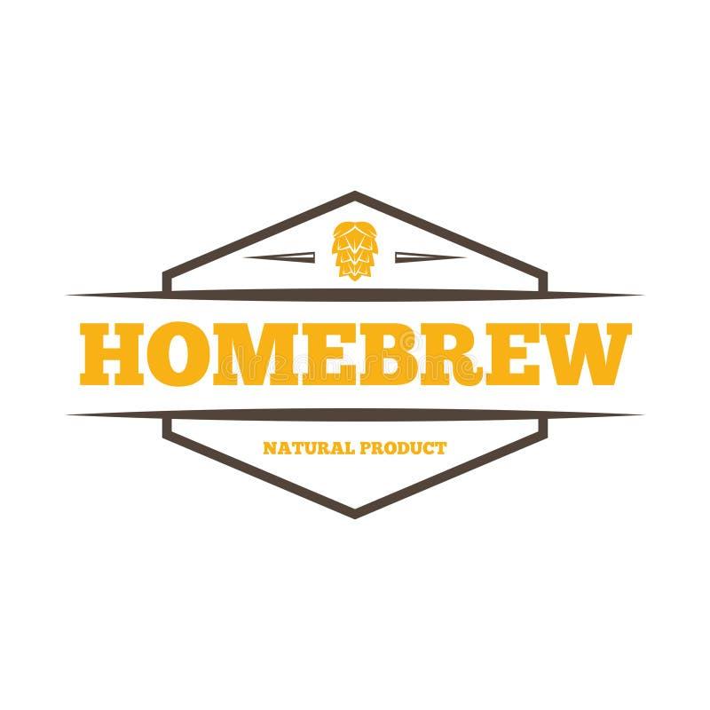 Rétros éléments de logo, d'insigne, d'emblème ou de logotype de vintage pour la bière, la boutique, le brew à la maison, la taver illustration stock