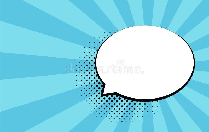 Rétros bulles comiques vides Dirigez l'illustration, conception de vintage, style d'art de bruit Message de bulle Vecteur d'art d illustration stock