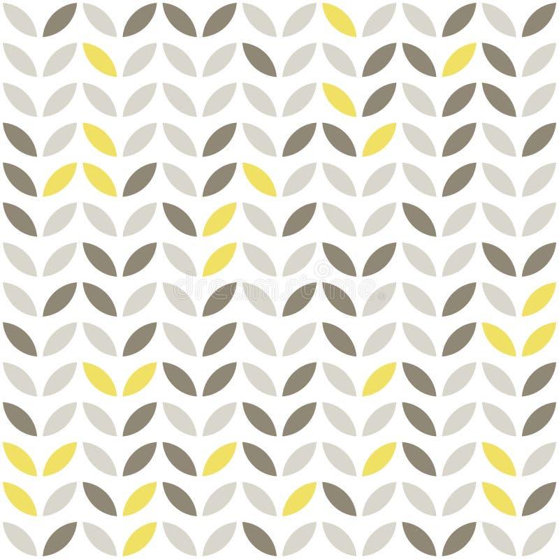 rétros feuilles beiges de brun jaune illustration de vecteur