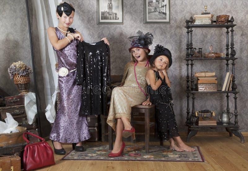 Rétros filles photo libre de droits