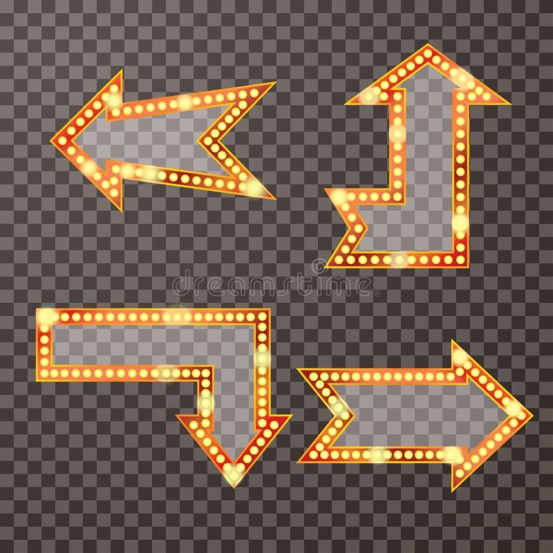 Rétros flèches de transport illustration de vecteur