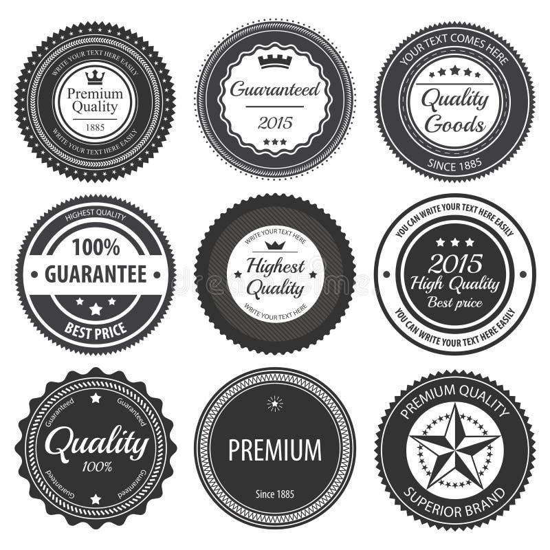Rétros insignes de label illustration libre de droits