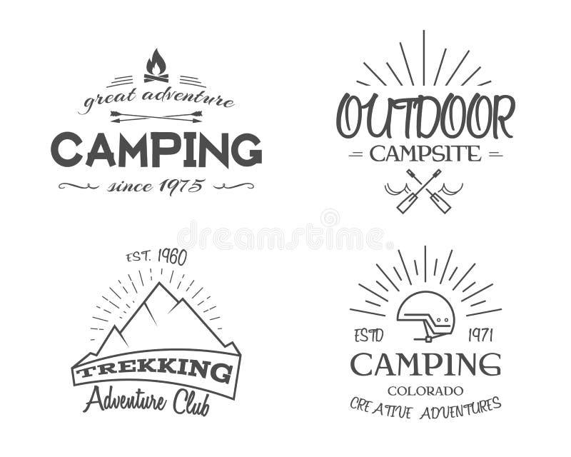 Rétros insignes et collection de graphiques de logo de label illustration libre de droits
