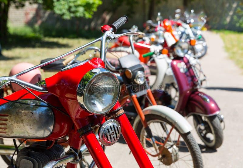 Rétros motos image stock