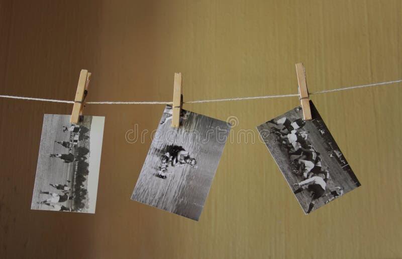 Rétros photographies noires et blanches image stock
