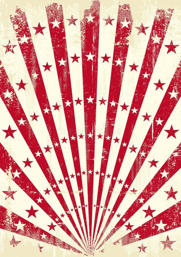 Rétros rayons de soleil rouges illustration libre de droits