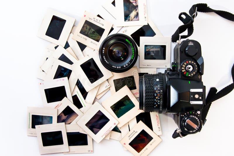 Rétros trains de photographie image libre de droits