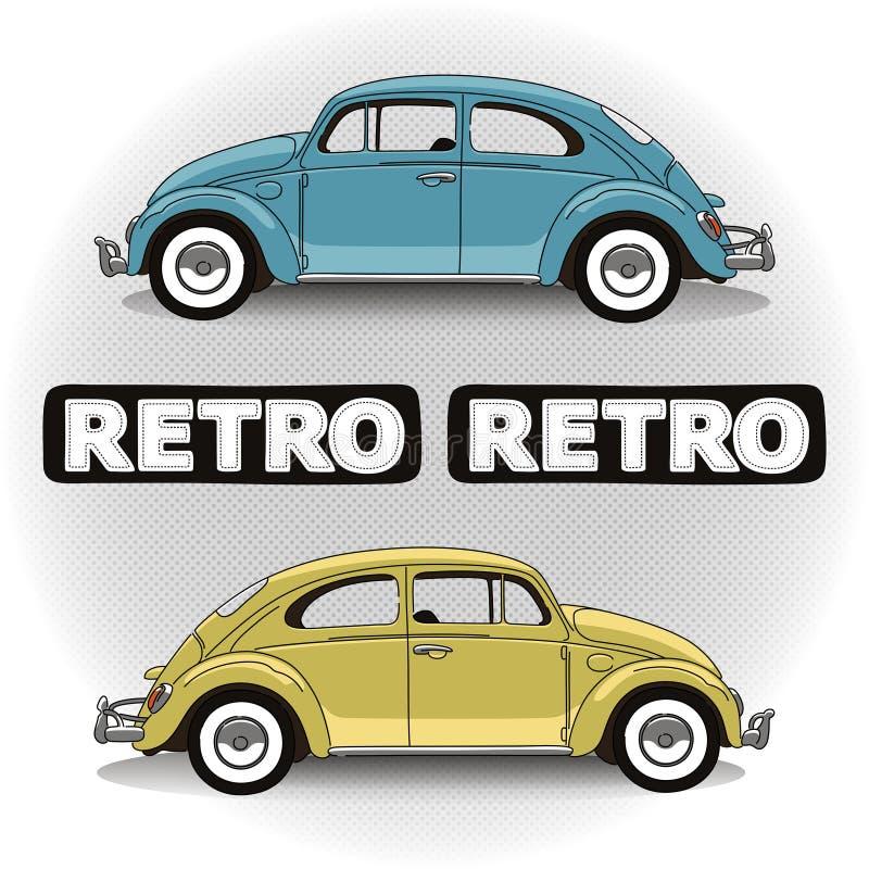 Rétros voitures de concept illustration de vecteur