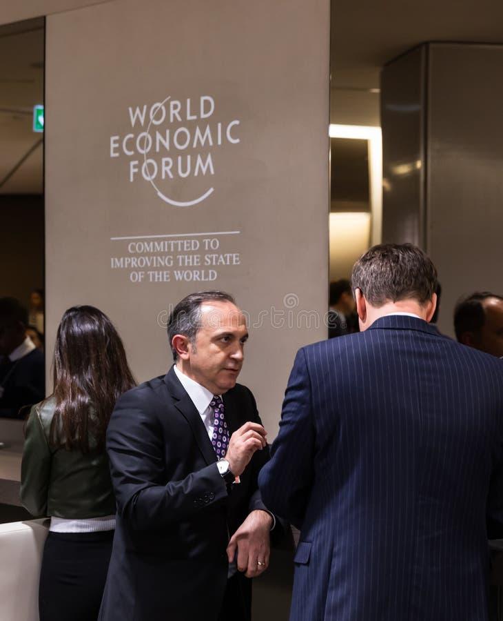 Réunion annuelle de forum économique mondial dans Davos, Suisse image stock