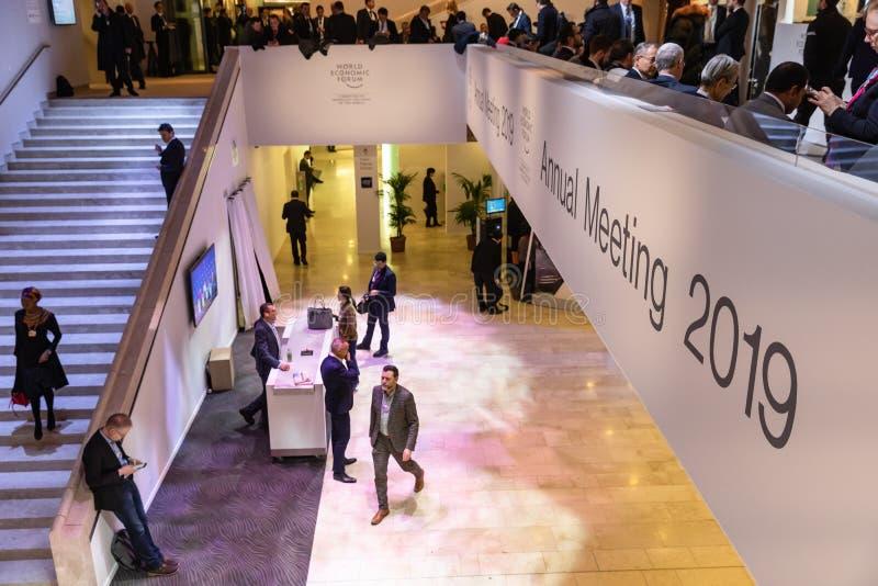 Réunion annuelle de forum économique mondial dans Davos, Suisse photographie stock libre de droits