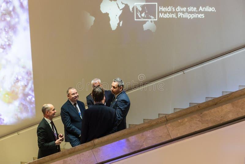 Réunion annuelle de forum économique mondial dans Davos, Suisse photos libres de droits