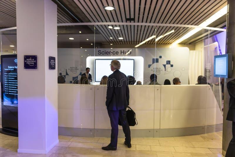 Réunion annuelle de forum économique mondial dans Davos, Suisse images stock