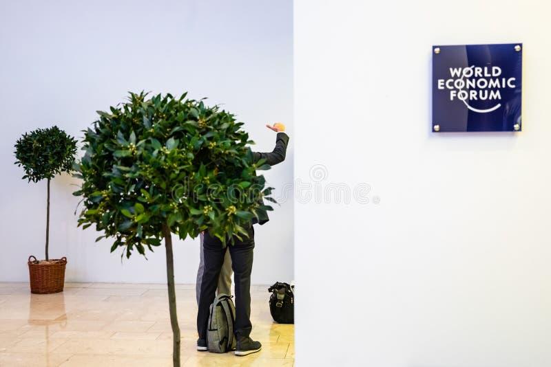 Réunion annuelle de forum économique mondial dans Davos, Suisse image libre de droits