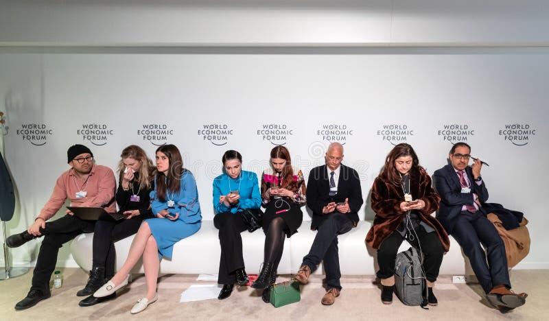 Réunion annuelle de forum économique mondial dans Davos, Suisse photos stock