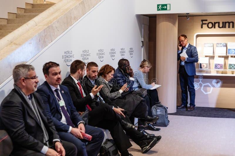 Réunion annuelle de forum économique mondial dans Davos, Suisse photo libre de droits