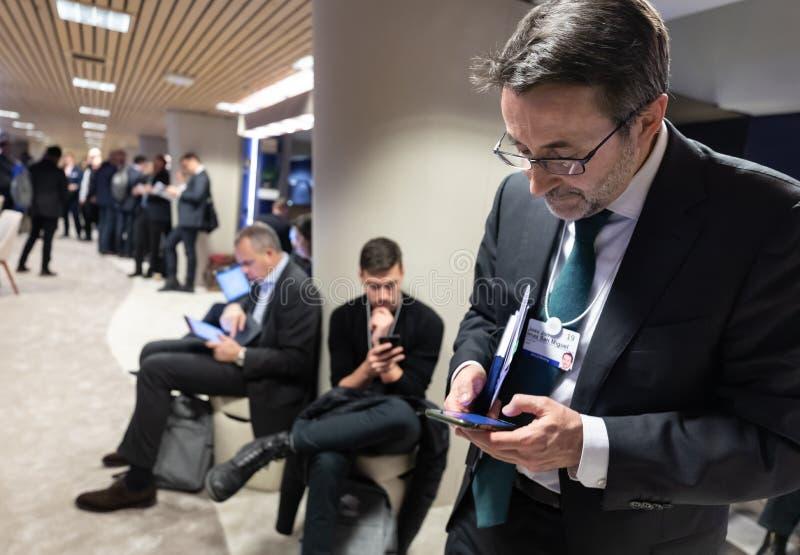 Réunion annuelle de forum économique mondial dans Davos, Suisse photographie stock