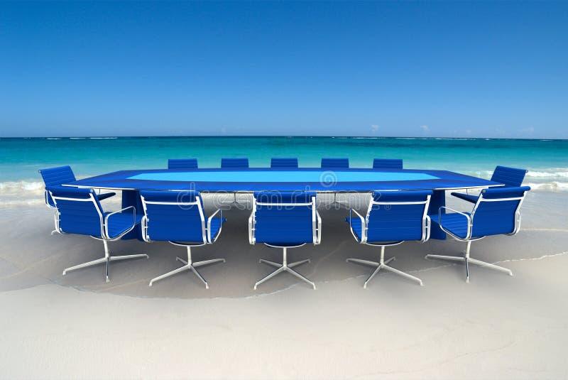 Réunion bleue photo libre de droits