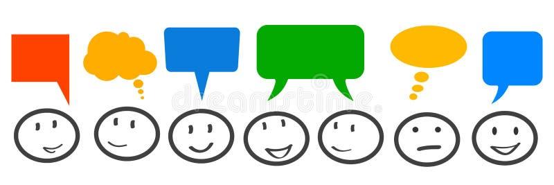 Réunion d'affaires, d'entreprise, communication - pour des actions illustration de vecteur