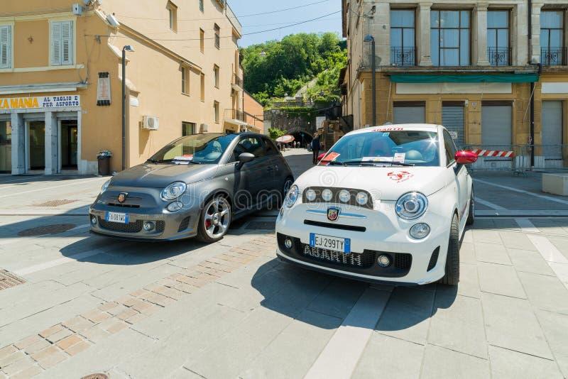 R?union d'Isonzo de club de Fiat 500 photographie stock