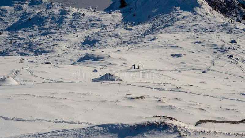 Réunion dans les montagnes photos libres de droits