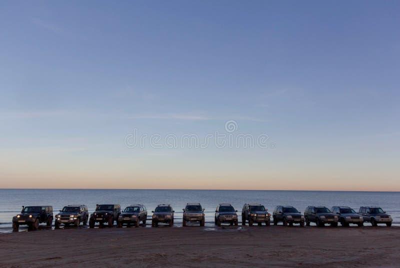 Réunion de club de jeep de St Petersburg images libres de droits
