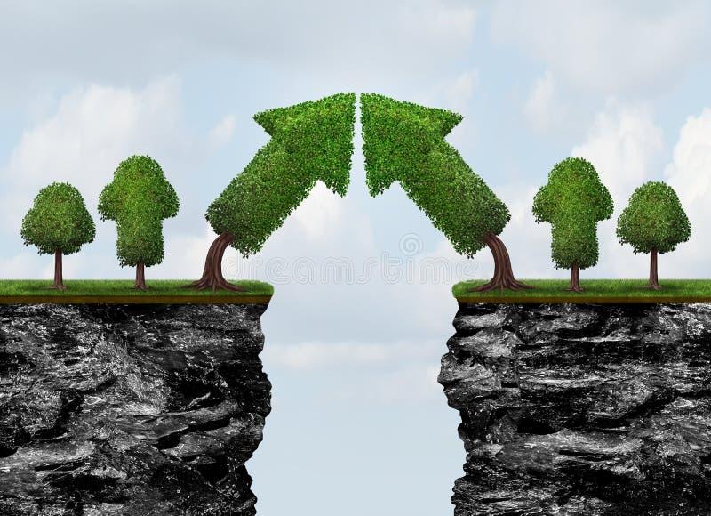 Réunion de croissance d'affaires illustration de vecteur