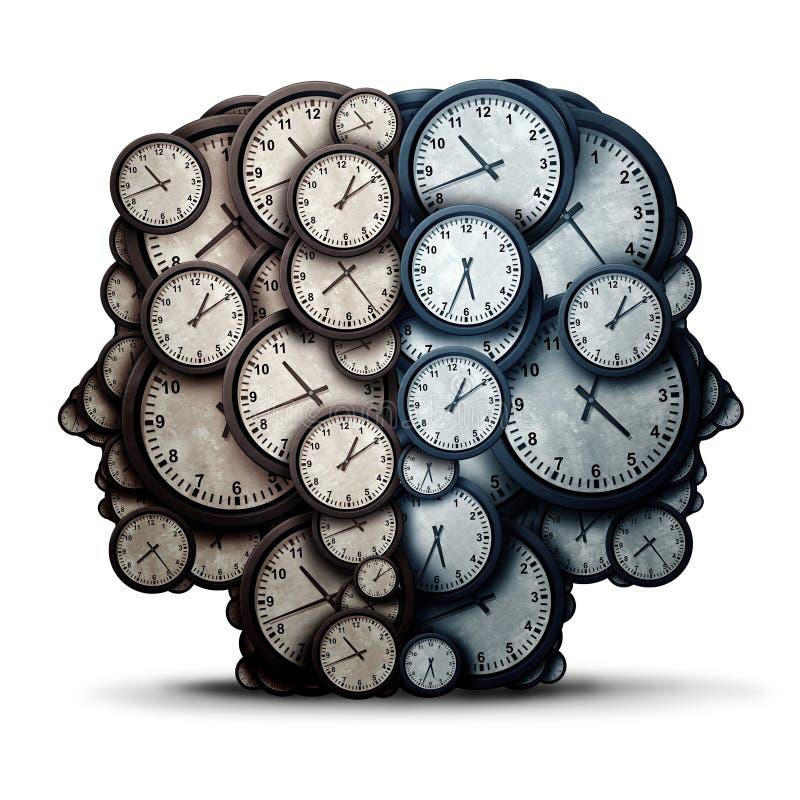 Réunion de pensée de temps illustration stock
