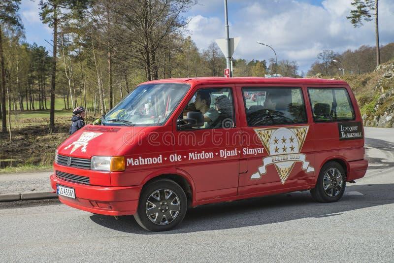 Réunion de Russe (pays se réunissant) à la forteresse 2015 (Russe-voiture) de Fredriksten photographie stock libre de droits