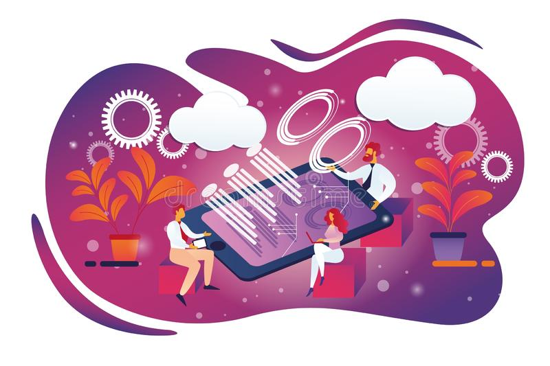 R?union du conseil d'administration d'affaires dans le bureau, Teamworking illustration libre de droits