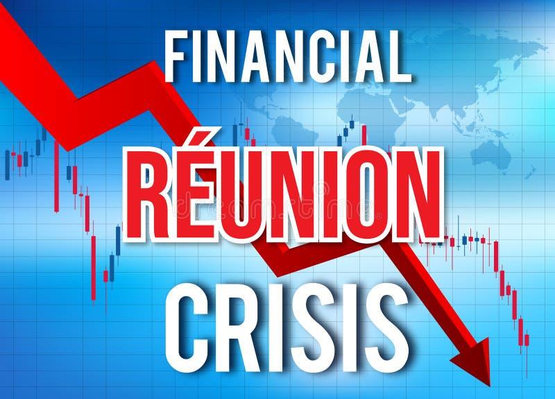 Réunion Financial Crisis Economic Collapse Market Crash Global Meltdown. Illustration vector illustration