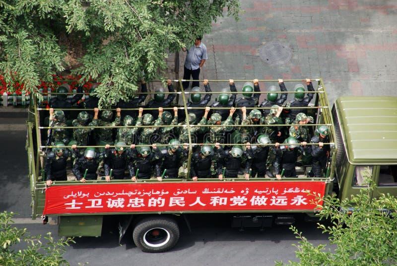 Réunion militaire d'Urumqi au sujet d'Anti-terrorisme images libres de droits