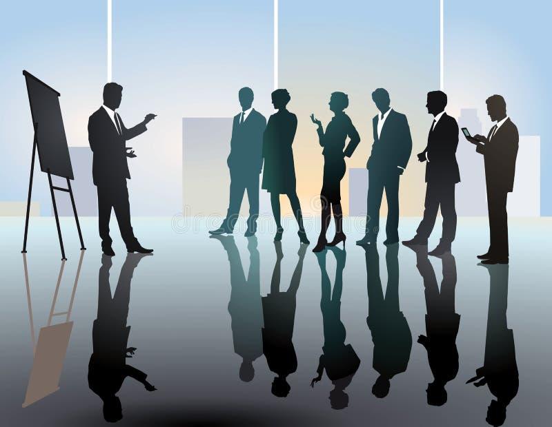 Réunion ou conférence d'équipe d'affaires illustration libre de droits