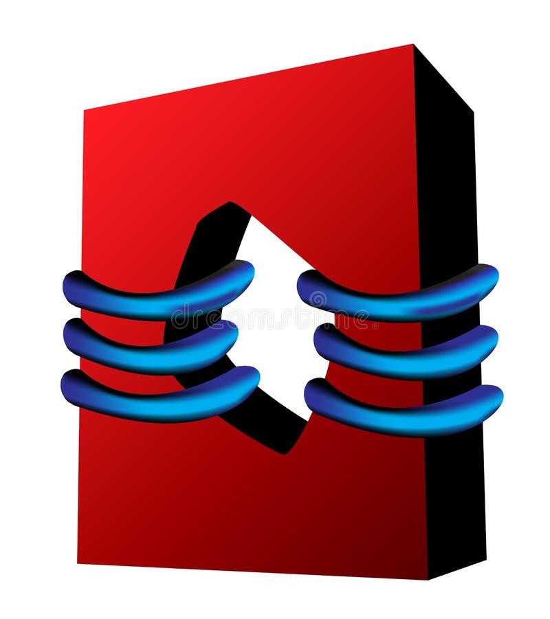 réunit le grand dos rouge bleu illustration de vecteur